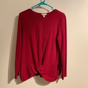 Tops - Red long sleeve top, worn once